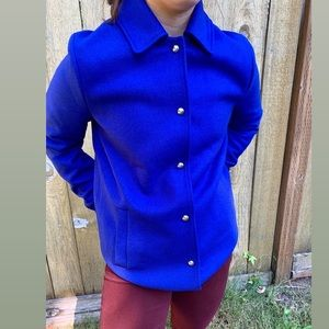 Tommy Hilfiger NWOT blue button up cinch coat